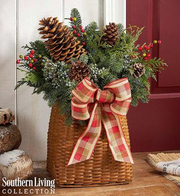 Southern Living® Welcome Winter Evergreen Basket